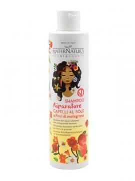 Shampoo riparatore capelli al sole ai fiori di melograno   MaterNatura