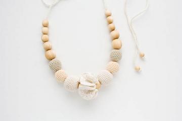 Collana d'Allattamento 'Cotton Flower' - FrejaToys | Frejatoys
