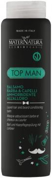 Top Man Balsamo Barba e Capelli Ammorbidente all'Alloro | MaterNatura